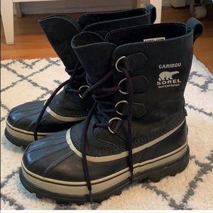 Sorel Black Caribou Snow Boots (WITHOUT LINER)